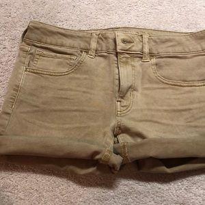 AEO midi khaki shorts